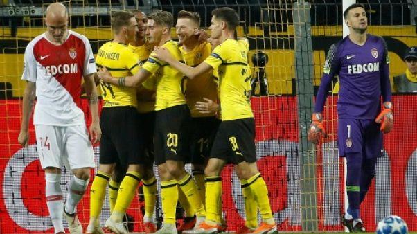 Ligue des champions: Monaco sombre à Dortmund et poursuit sa série noire