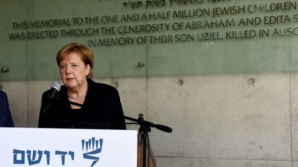 Germany's Merkel visits Holocaust memorial in Jerusalem
