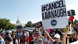 Republicans aim to confirm Kavanaugh on weekend; protesters arrested