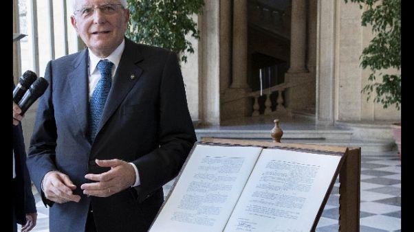 Mattarella firma dl sicurezza