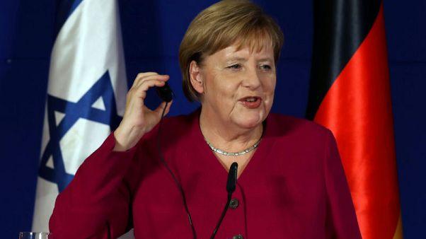 ميركل: ألمانيا وإسرائيل تتفقان على ضرورة منع إيران من حيازة سلاح نووي
