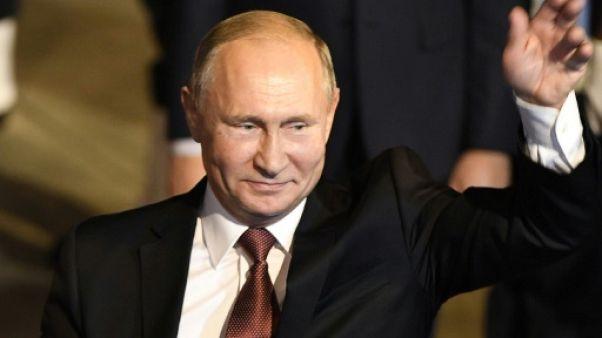 Le président russe Vladimir Poutine arrive à New Delhi, le 4 octobre 2018
