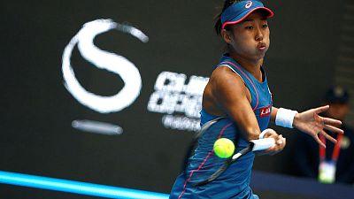 Zhang downs Kerber to set up Osaka clash in Beijing