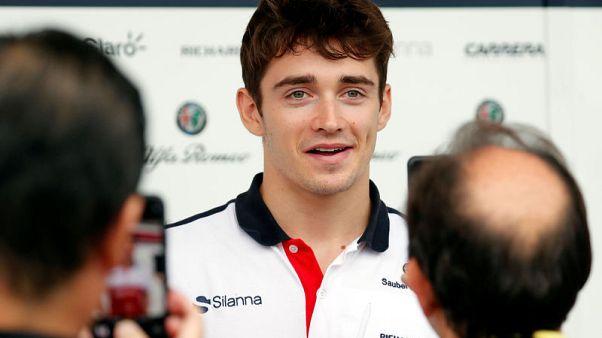 Motor racing - Leclerc braced for emotional weekend on Japanese GP debut