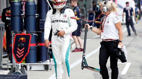Hamilton fastest as Mercedes dominate Japanese GP practice