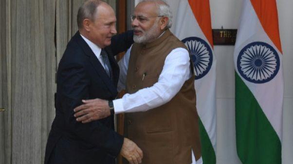 Inde: pourparlers Poutine-Modi dominés par les ventes d'armes