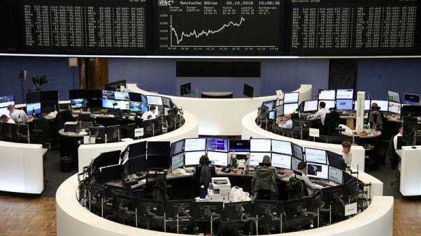 European shares dip as yields bite ahead of U.S. job data