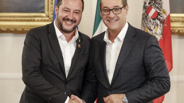Salvini e Strache attesi a Bolzano