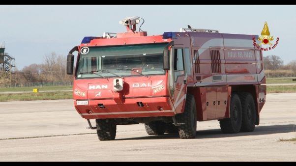 Atterraggio emergenza aeroporto Ancona