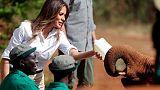 ميلانيا ترامب تقوم برحلة سفاري في كينيا وتزور دارا للأيتام
