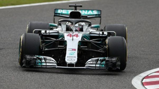GP du Japon: pole position pour Hamilton, Vettel 9e sur la grille