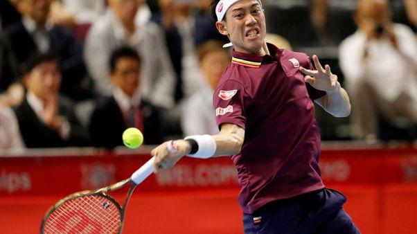 Tennis - Nishikori through to Japan Open final against Medvedev