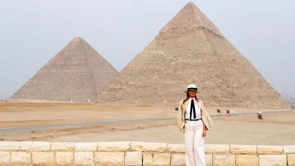 Melania Trump, ending Africa tour, says glad Kavanaugh, accuser been heard