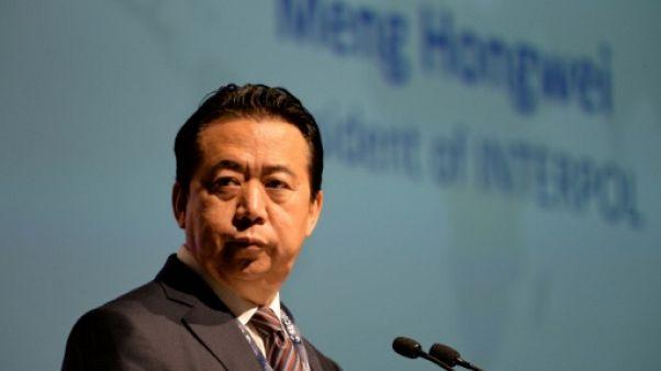 Le président d'Interpol Meng Hongwei, le 4 juillet 2017 à Singapour