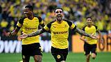 Allemagne: un triplé d'Alcacer laisse Dortmund seul en tête