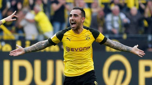 Alcacer scores hat-trick from the bench in dramatic Borussia win