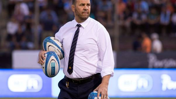 Rugby - Victory eases pressure on Cheika but coach needs more wins