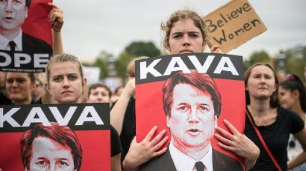 Manifestants en colère à Washington pour la confirmation de Kavanaugh