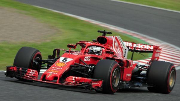 Contatto con Verstappen, Vettel ai box
