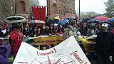 Perugia-Assisi partita sotto la pioggia
