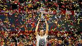 Tennis - Qualifier Medvedev stuns Nishikori to win Japan Open title