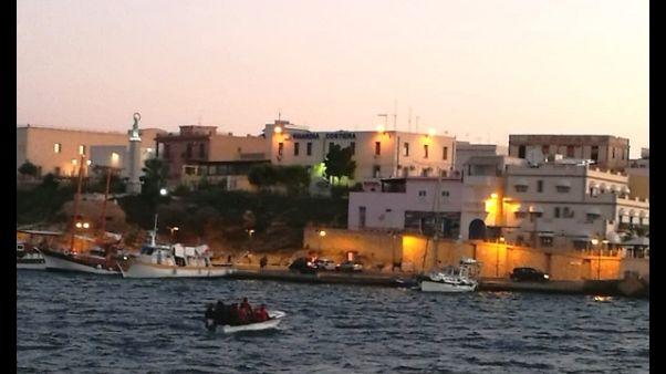 Due mini sbarchi migranti a Lampedusa