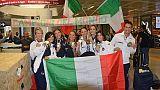 Pattinaggio:festeggiati azzurri Mondiali