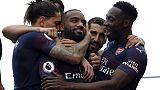 Angleterre: Arsenal marche sur Fulham grâce à Lacazette et Aubameyang