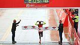 Le Britannique Mo Farah vainqueur du marathon de Chicago le 7 octobre 2018