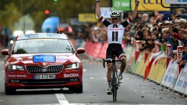 Le Danois Soren Kragh Andersen vainqueur de Paris-Tours le 7 octobre 2018