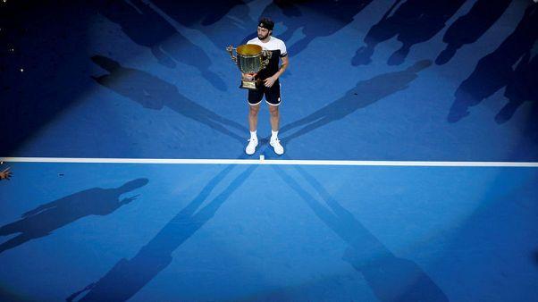 Tennis - Basilashvili stuns ailing Del Potro for Beijing title