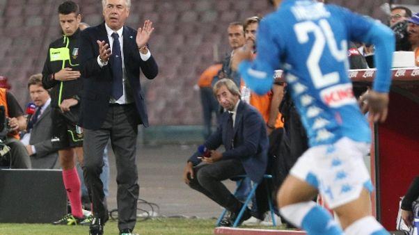 Ancelotti, Napoli in corsa fino in fondo