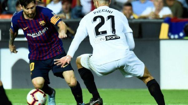 Espagne: le Barça tenu en échec 1-1 à Valence