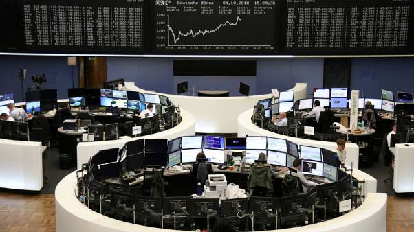 European shares fall as risk-off sentiment spreads