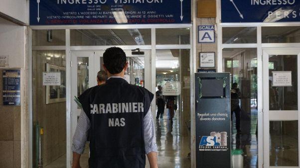 Sanità, pm Milano:una denuncia al giorno
