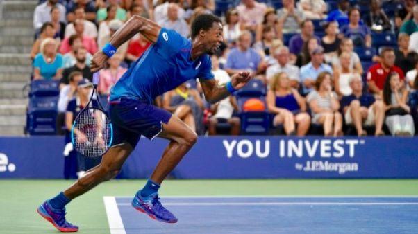 Le Français Gaël Monfils lors de l'US Open, le 30 août 2018 à New York
