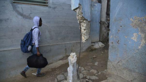 Une maison à Port-de-Paix touchée par le séisme, le 8 octobre 2018