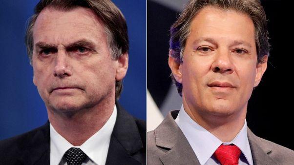 بولسونارو مرشح الرئاسة البرازيلي يقول إنه لا يهدد بالقيام بانقلاب