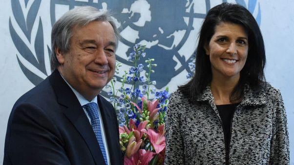 أمين عام الأمم المتحدة يعبر عن تقديره لهيلي لتعاونها ودعمها