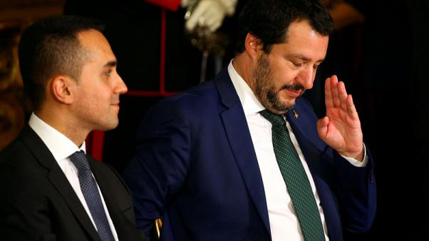 Italy coalition chiefs defiant on budget, forecast GDP growth