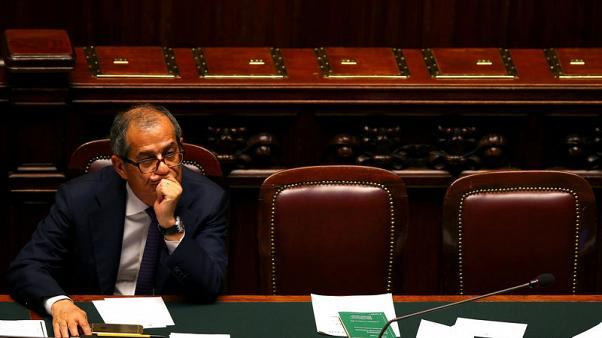 Italy coalition eyes alternatives to economy minister Tria