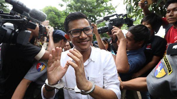 Myanmar newspaper journalists held after handing themselves in to police