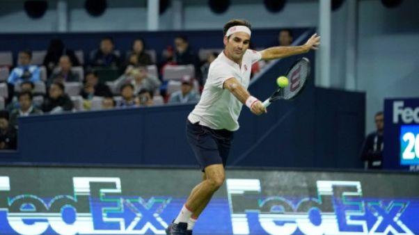 ATP: Federer en huitièmes dans la douleur à Shanghai