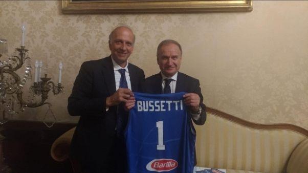 Basket: Petrucci dal ministro Bussetti