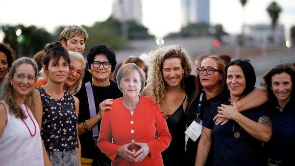 Israeli tech women protest men-only meeting with Merkel