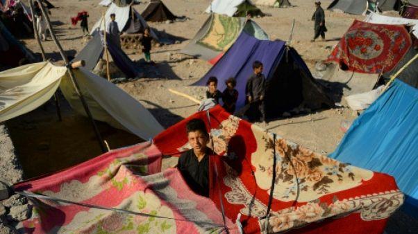 Chassés par la sécheresse, des paysans afghans subissent la misère des camps de déplacés