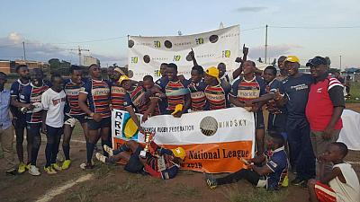 Kigali Sharks rugby football lift first mindsky national league title in Rwanda