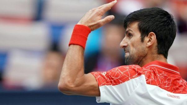 Le Serbe Novak Djokovic, le 11 octobre 2018 au tournoi de Shanghaï