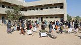 Young survivors of Yemen school bus air strike return to class