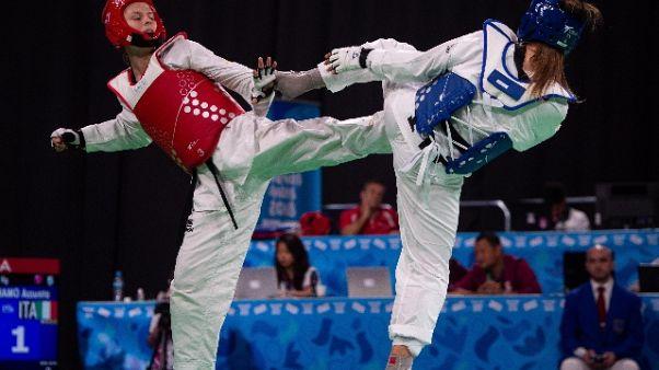 Taekwondo:Giochi giovanili,bronzi Italia